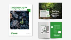 grodan, brochure, visual